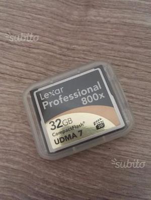 Compact flash 32 gb lexar professional 800X