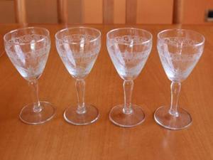 4 Bicchieri da liquore anni '60