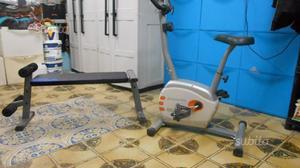 Ciclette + panca per addominali pari al nuovo