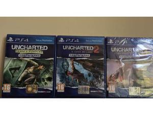 PS4 Uncharted 1-2-3 Nuovi e sigillati