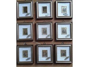 Quadri con foglia oro di collezione