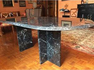 3 tavoli in marmo nero marquinia posot class - Tavolo castiglioni ...