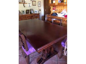 Tavolo in legno con 6 sedie da 180 allungabile a 360