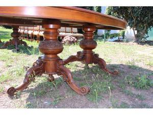 Tavolo in legno noce scuro per 8 persone