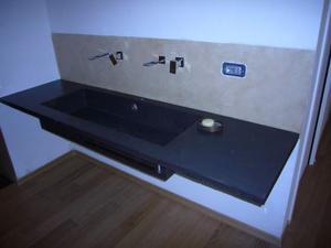 Top lavabo in resina