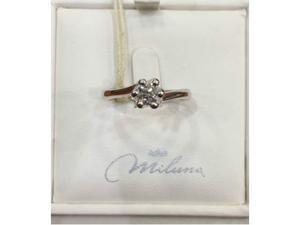 Anello Miluna soitario in oro 18 kt e diamante