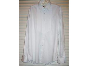 Camicia bianca da smoking in puro cotone