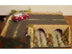 Diorama per modellini auto Rally Scala 1/43