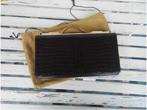 Elegante borsa vintage in pelle coccodrillo