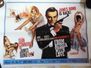 Locandina inglese film From Russia with love-J.B