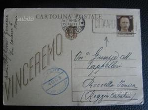 Lotto 3 Cartoline Postali AnnullateCittà Aperta d
