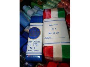 Merceria: nastro di raso e nastro di nylon