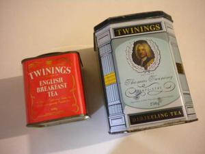 Scatole di latta vintage TWININGS collezione tè, thè