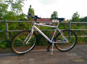 "Mountain bike, bianca, ruote 26"""