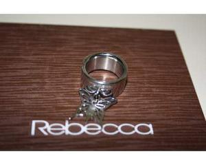 Anello REBECCA originale in acciaio con farfalla NUOVO