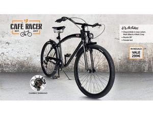 Bicicletta cafè racer nero matt NUOVA