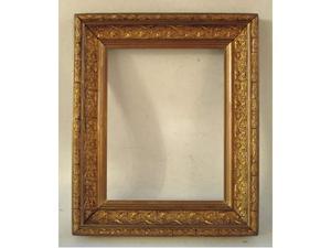 Cornice antica in legno dorato(30 x 23 cm.)
