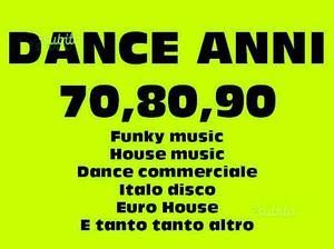 DANCE ANNI  oltre  singoli