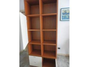 Mobile/Libreria Soggiorno in vero legno Ciliegio