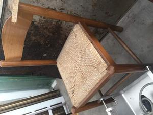 Sedia legno e paglia