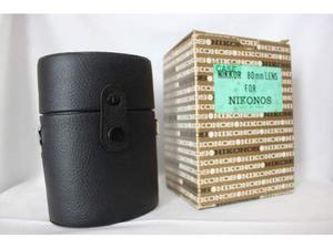 Astuccio ovale in pelle per obiettivi nikonos 80/4 x