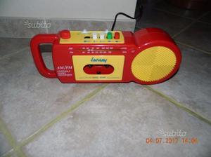 Raro vintage lansay am/fm radio cassette anni 70