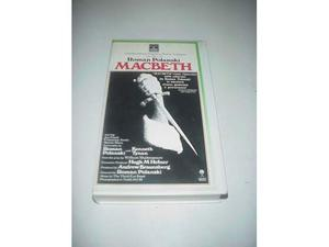 Roman Polanski Macbeth film in videocassetta vhs ex nolo