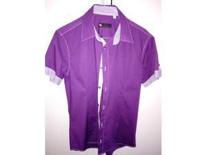 Camicia viola manica corta taglia M