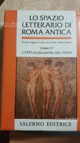 Lo spazio letterario di roma antica 5 volumi