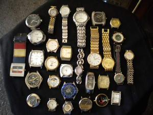 Stock orologi e movimenti al quarzo 50 pezzi marche varie