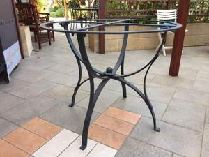Base in ferro battuto per tavolo diam.