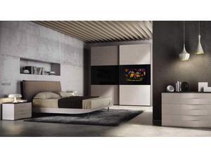 Camera da letto con armadio TV integrato