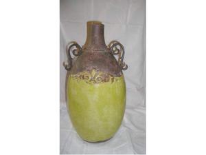 NUOVO vaso in terracotta con manici in ferro