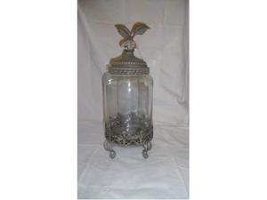 NUOVO vaso in vetro con coperchio