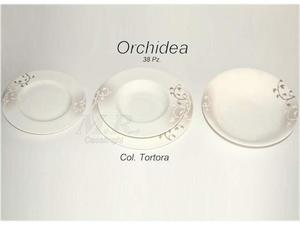Piatti porcellana bone china 38 pz. orchidea collection