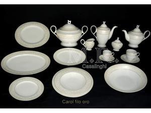 Piatti porcellana servizio 100 pz. carol oro platino