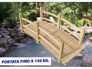 Ponticello da giardino in legno ponte per laghetto