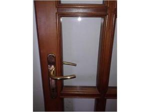 Porta in castagno con vetri all inglese posot class - Porta finestra in inglese ...