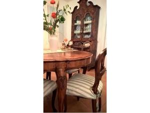 Prestigiosa sala in radica - Trumeau, 4 sedie e tavolo
