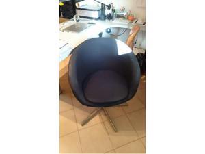Ikea Sgabello Ruote : Sedia skruvsta ikea usata nera in stoffa posot class
