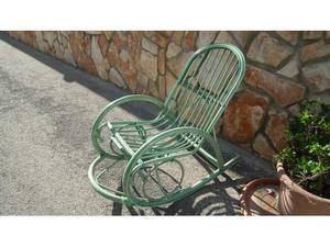 Sedia poltrona in vimini giunco da giardino e posot class - Sedia a dondolo usata ...
