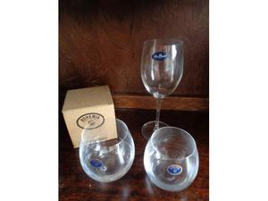 Servizio bicchieri di cristallo da 12 persone bormioli e