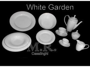 Tendenze set piatti the caffe white garden porcellana bone