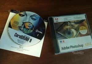 Adobe Photoshop 4.0 LE e CorelDraw 9