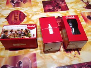 Coca cola 3 bicchieri con scatola