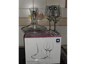 "Leonardo Set per vino rosso ""Barcelona"" 3 pezzi - nuovo"