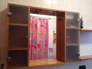 Armadio due ante specchio e mobiletto bagno posot class - Specchio bagno ante ...
