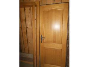 PORTONCINO completo di maestà in legno di abete specchiato