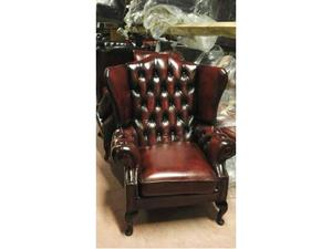 Coppia poltrone chesterfield in pelle vintage posot class - Poltrone in pelle chesterfield ...