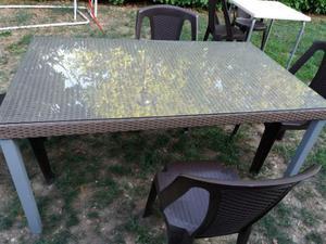 Tavolo con ripiano posot class for Tavolo da giardino usato